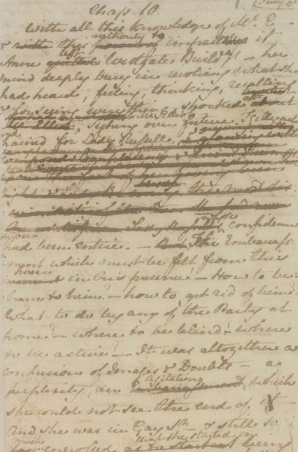 Two Chapters of Persuasion (Jane Austen) London British Library, MS Egerton 3038